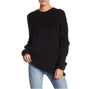 FREE PEOPLE Downtown Ribbed Asymmetrical Sweater S